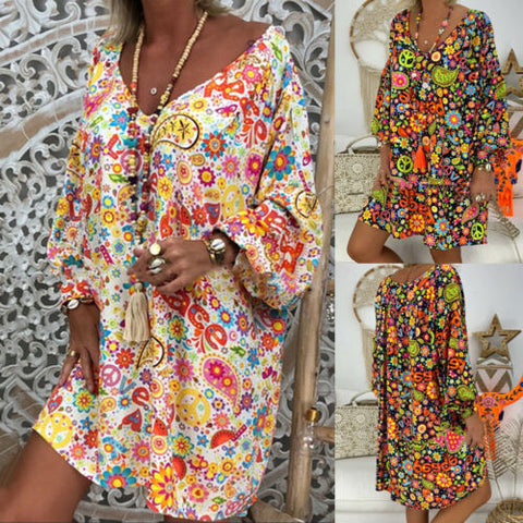 Summer Hippie Floral Dresses