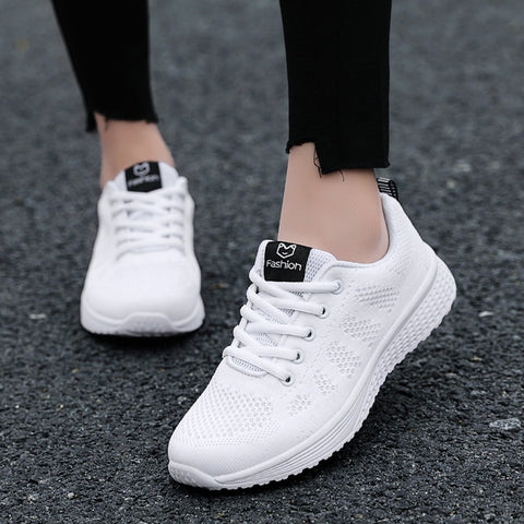 Lace-Up Mesh Breathable Sneakers