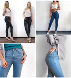 High Waist Jeans Skinny Black Mom Pencil Denim Pants
