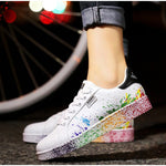Autumn Flat Sneakers Lace-up Colorful Vulcanized Shoes