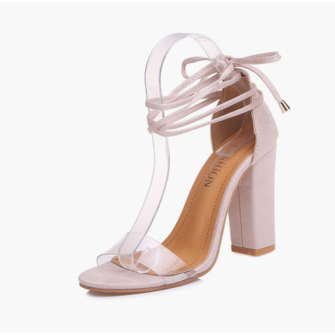 Summer High Heels Shoes T-stage Transparent Sexy Sandals