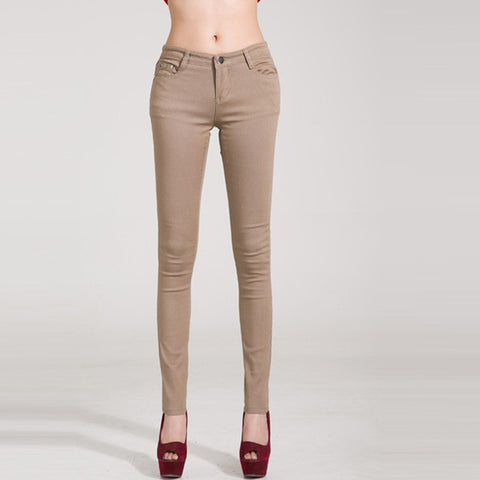 Casual Pencil  Pants Slim Stretch