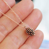 Tiny Cute Acorn Pinecone Necklace