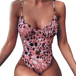 2020 New Sexy Print Brazilian One Piece Swimsuit