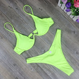 2020 New High Cut Thong Brazilian Biquini Set