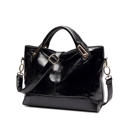 Women Oil Wax Leather Designer Handbags High Quality