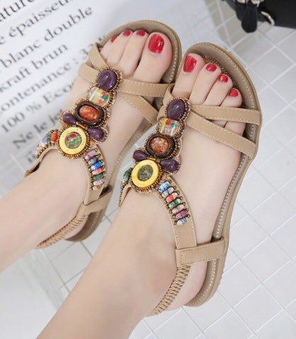 Summer Boho Ethnic Sandals Gypsy Hippie Style Shoes