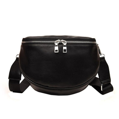 New Arrival Fashion Pure Color Women Leather Shell Messenger Shoulder Bag