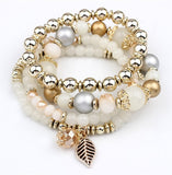 4pcs/set Designer Fashion Multilayer Crystal Beads