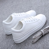 Autumn Breathable PU Leather Platform Sneakers