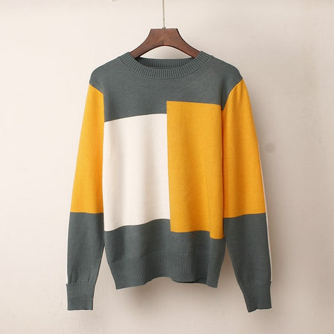 New Multicolor Autumn Winter Women Sweater O-Neck Casual