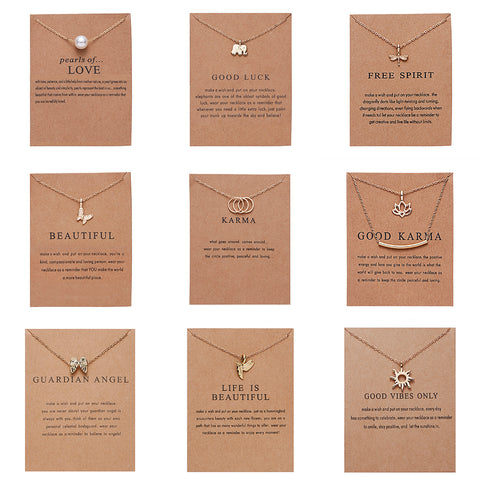 Fashion Gold-color Good Vibes Only Sun Necklaces & Pendants