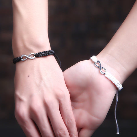 2 Pcs Set Hand Braided Rope String Bracelets