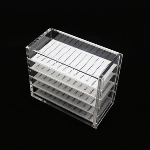 5 Layers Eyelash Storage Box Makeup Display Container
