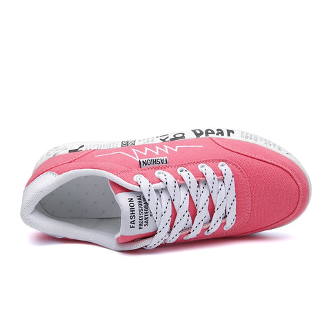 Vulcanized Shoes Breathable Canvas Sneakers