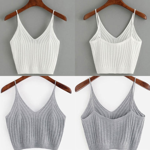 Hot Summer Basic Sexy Strappy Sleeveless Racerback Crop Top