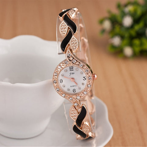 Women Luxury Crystal Dress Wristwatches Clock