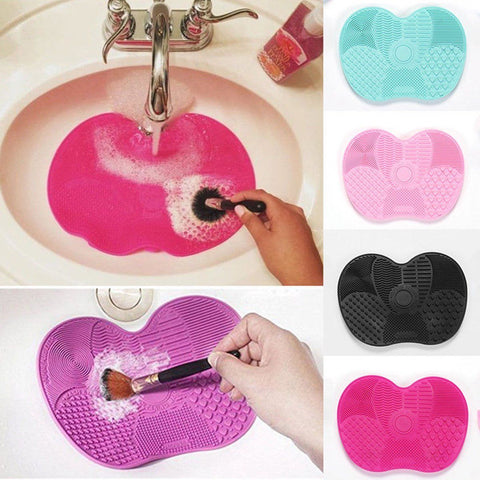 Silicone Makeup Brush Cleaning Pad Mat Brush Washing Tools