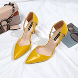 PU Leather Wedding High Heels Shoes Shoes