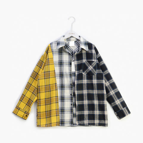 Plaid Shirt Women Blouse Plus Size Spring Autumn