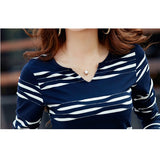 Long Sleeve Shirt Cotton Stripe Casual