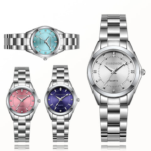 Women Luxury Rhinestone Stainless Steel Quartz Watches