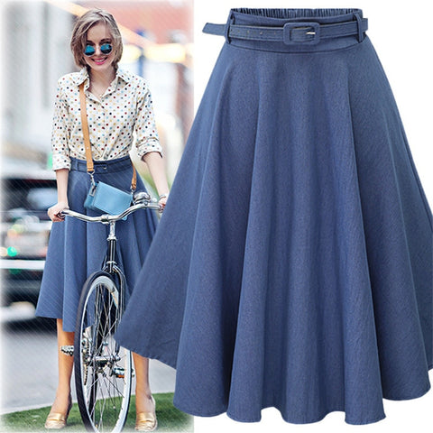 Denim Jeans Skirts 2019 Summer Autumn