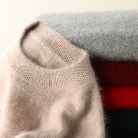 Super Warm Pure Mink Cashmere Sweaters and Pullovers