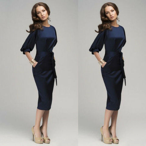 Elegant Work Career Bodycon Pencil Formal Dress