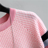 Striped T-shirt Knitted Cotton