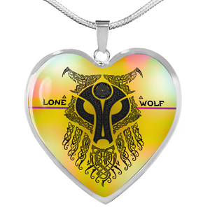Lone Wolf Heart Necklace