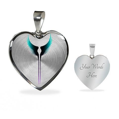 Valkyrie Wings Heart Necklace