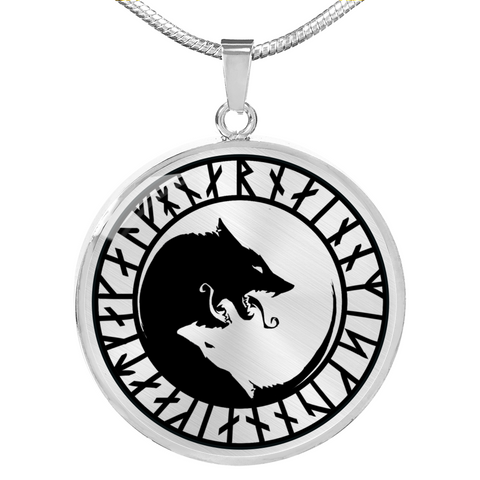 "Ulfhednar ""Wolf Vikings"" Rune Necklace"