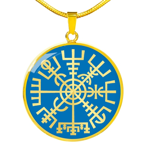 Blue Vegvisir Necklace