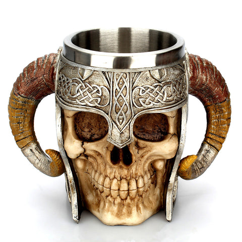 Stainless Steel Viking Skull Mug
