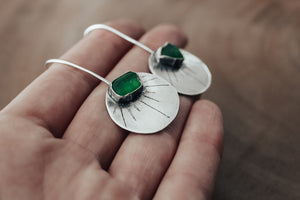 Chase The Sun Sea Glass Earrings