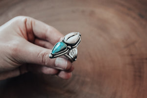 Cowrie & Turquoise Oceania Sands Ring #2