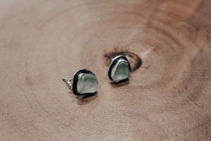 Seafoam Sea Glass Studs #2