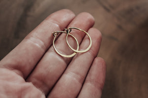 Handcrafted 18ct Solid Gold Hoops