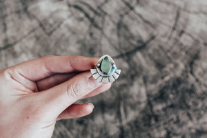 Seafoam Sea Glass Fan Ring
