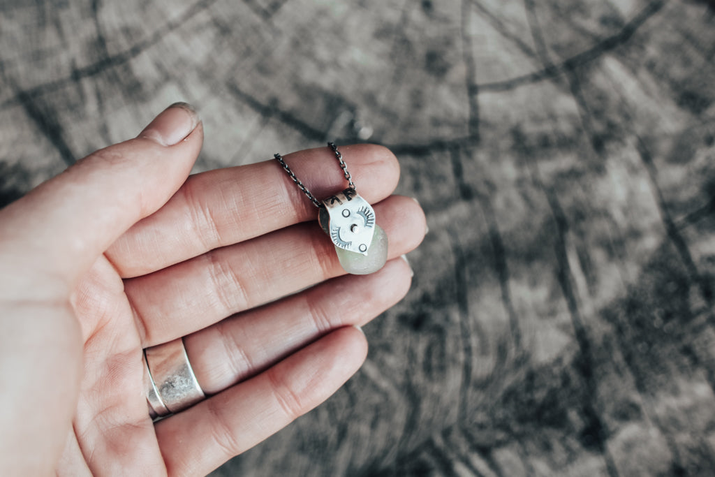 Seafoam Rivet Necklace