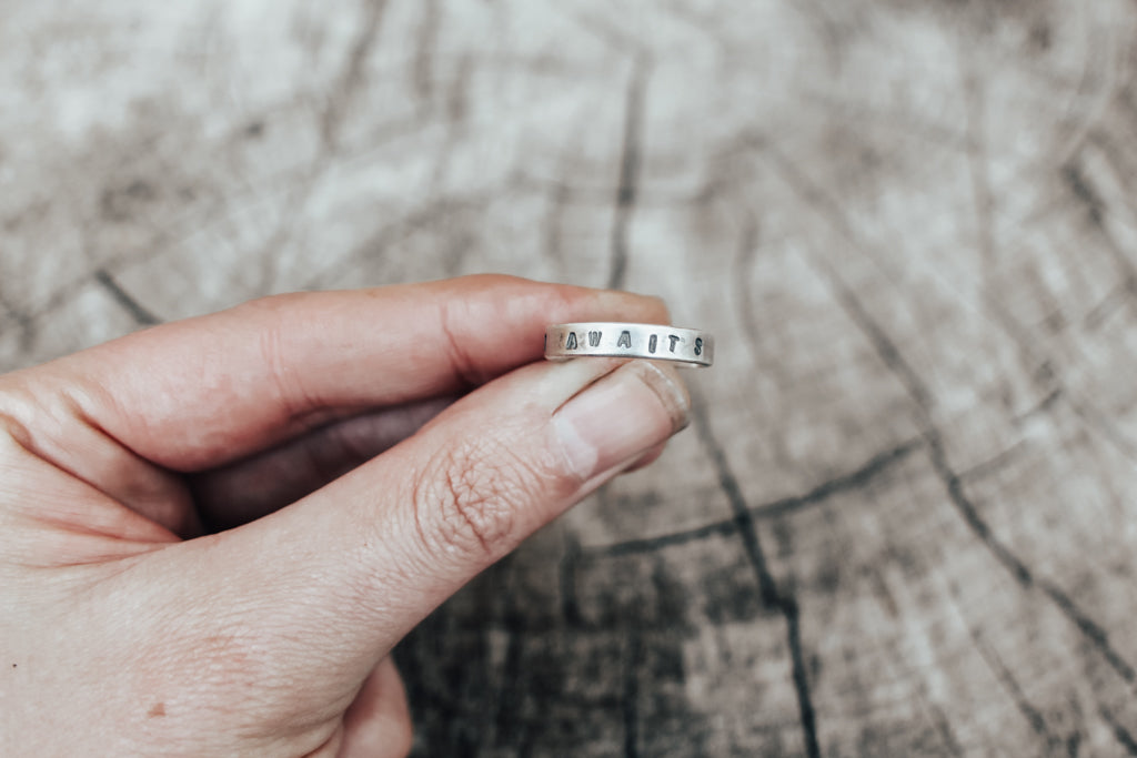 Adventure Awaits Stacking Ring