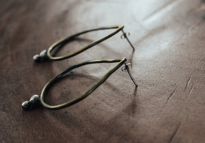 Contemporary brass earrings