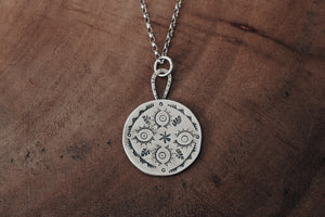 Nature inspired mandala necklace