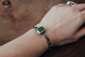 Textured Sea Glass Cuff