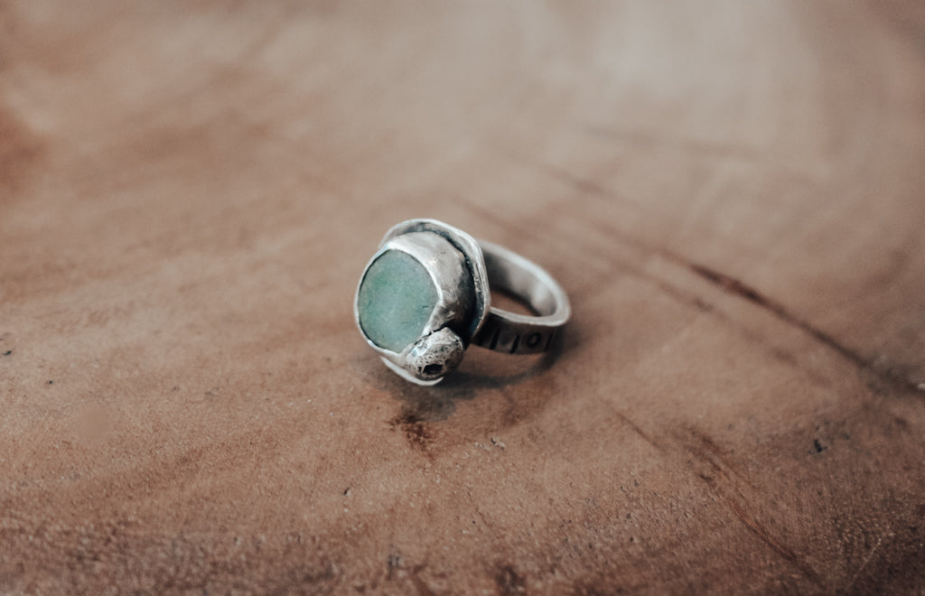 silver pebble ring