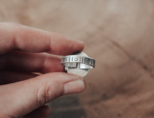 recycled silver ring band