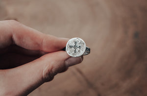 explore silver compass ring