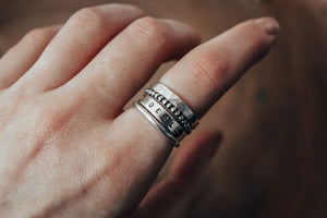 mix and match silver stacking rings