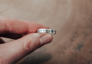eco silver wanderlust stacking ring